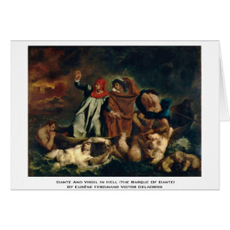 Dante And Virgil In Hell (The Barque Of Dante) Greeting Card