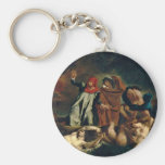 Dante And Virgil In Hell (The Barque Of Dante) Key Chain