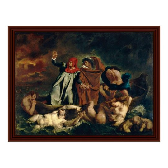 Dante And Virgil In Hell (The Barque Of Dante) Postcard