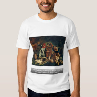 Dante And Virgil In Hell (The Barque Of Dante) T-Shirt
