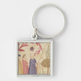 Dante and Virgil  in the Terrestrial Paradise Keychain