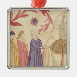 Dante and Virgil  in the Terrestrial Paradise Metal Ornament