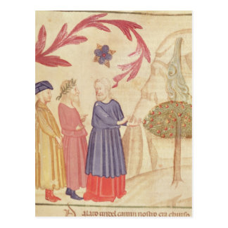 Dante and Virgil  in the Terrestrial Paradise Postcard