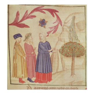 Dante and Virgil  in the Terrestrial Paradise Print