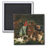 Dante  and Virgil  in the Underworld, 1822 2 Inch Square Magnet
