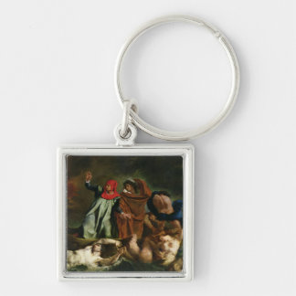 Dante  and Virgil  in the Underworld, 1822 Keychain