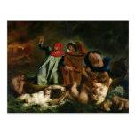 Dante  and Virgil  in the Underworld, 1822 Postcard