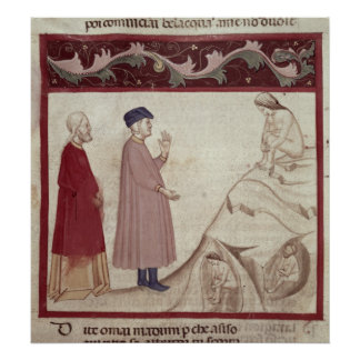 Dante and Virgil  meet the souls imprisoned Poster