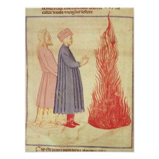 Dante and Virgil  recognise Ulysees Poster