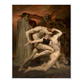 Dante and Virgil William-Adolphe Bouguereau Poster