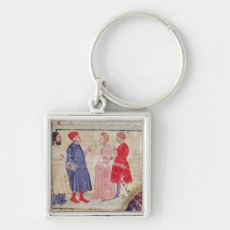 Dante and Virgil  with Francesca da Rimini Keychain