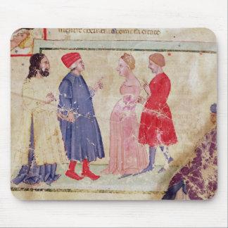 Dante and Virgil  with Francesca da Rimini Mouse Pad