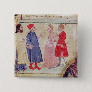 Dante and Virgil  with Francesca da Rimini Pinback Button