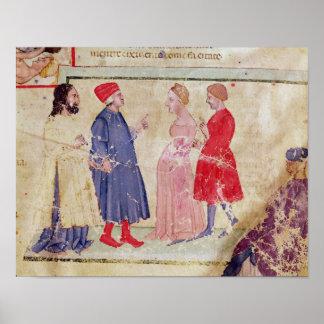 Dante and Virgil  with Francesca da Rimini Poster