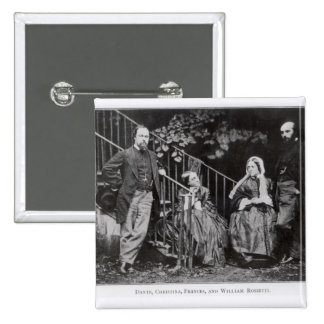 Dante, Christina, Frances and William Rossetti Pinback Buttons