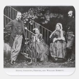 Dante, Christina, Frances and William Rossetti Square Sticker