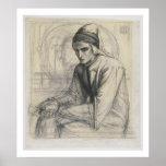 Dante en la meditación que sostiene una granada, c impresiones