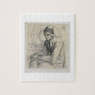 Dante en la meditación que sostiene una granada, c puzzles