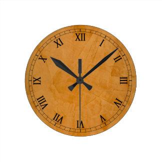 Dante Faux Finish Roman Numerals Round Wall Clock