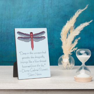 Dante Gabriel Rosetti Dragonfly Quote Display Plaques