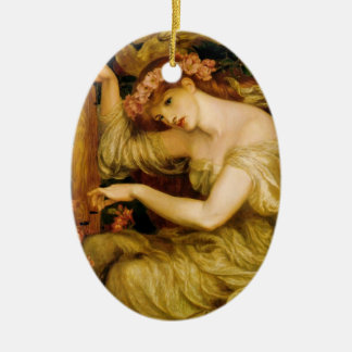 Dante Gabriel Rossetti- A Sea Spell Double-Sided Oval Ceramic Christmas Ornament