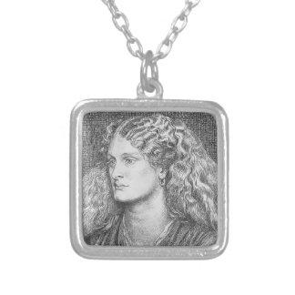 Dante Gabriel Rossetti: Annie Miller Personalized Necklace