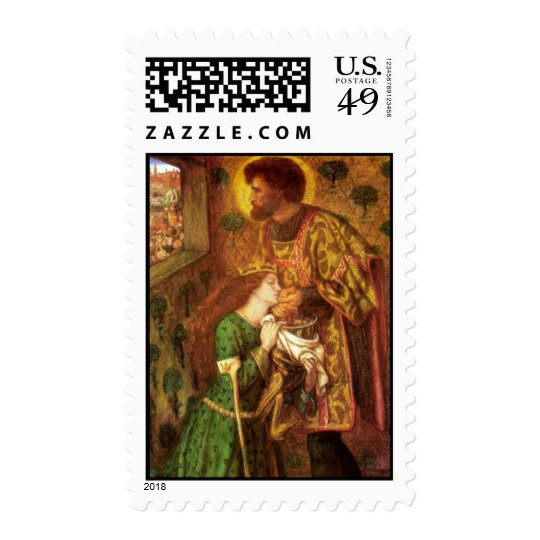 Dante Gabriel Rossetti Art Postage Stamp