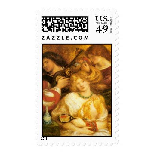 Dante Gabriel Rossetti Art Postage Stamps