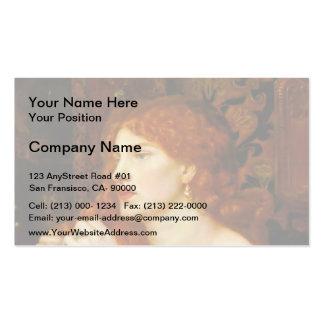 Dante Gabriel Rossetti: Aurelia Double-Sided Standard Business Cards (Pack Of 100)