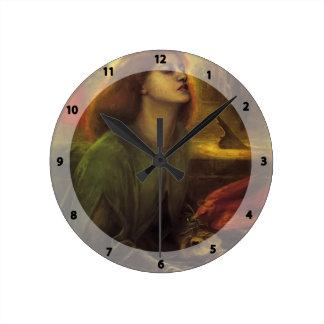 Dante Gabriel Rossetti- Beata Beatrix Round Wallclocks