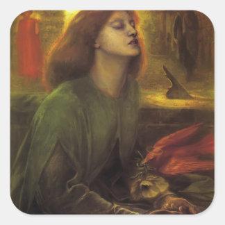 Dante Gabriel Rossetti- Beata Beatrix Colcomanias Cuadradas Personalizadas