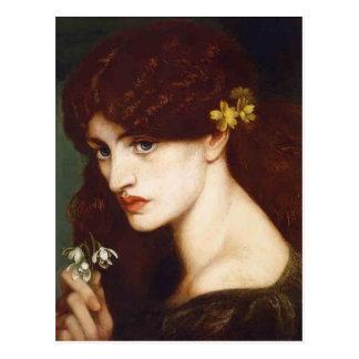 Dante Gabriel Rossetti- Blanzifiore (Snowdrops) Postal