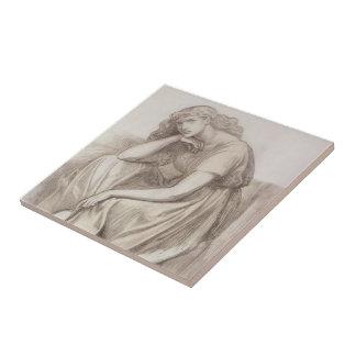 Dante Gabriel Rossetti: Desdemona Azulejo Cuadrado Pequeño