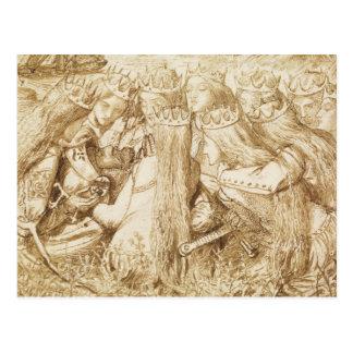 Dante Gabriel Rossetti - Design for Moxon's Tennys Postcard