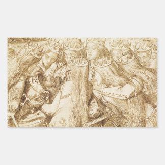 Dante Gabriel Rossetti - Design for Moxon's Tennys Rectangular Sticker
