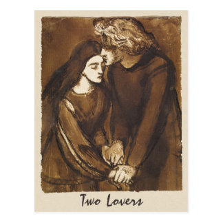 Dante Gabriel Rossetti dos amantes 1850 Tarjeta Postal