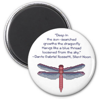 Dante Gabriel Rossetti Dragonfly Quote Magnet
