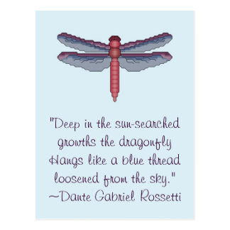 Dante Gabriel Rossetti Dragonfly Quote Postcard