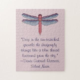 Dante Gabriel Rossetti Dragonfly Quote Puzzle