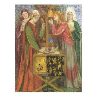 Dante Gabriel Rossetti- el armario azul Tarjetas Postales