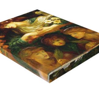 Dante Gabriel Rossetti- el Damozel bendecido Lona Envuelta Para Galerias