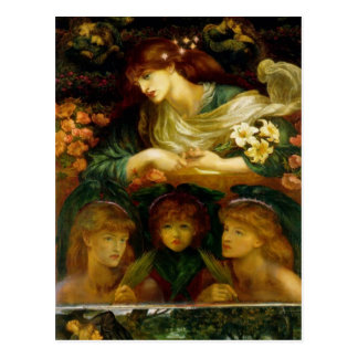 Dante Gabriel Rossetti- el Damozel bendecido Postal