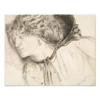 Dante Gabriel Rossetti - encontrado - estudio para Cojinete