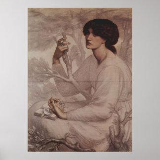 Dante Gabriel Rossetti - ensueño Póster