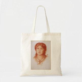 Dante Gabriel Rossetti- Fanny Cornforth Canvas Bags