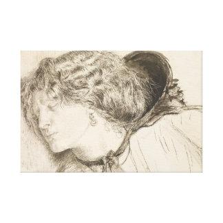 Dante Gabriel Rossetti - Found -Study for the Head Canvas Print