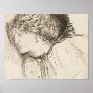 Dante Gabriel Rossetti - Found -Study for the Head Poster