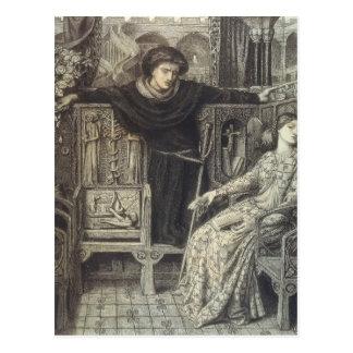 Dante Gabriel Rossetti: Hamlet and Ophelia Postcard