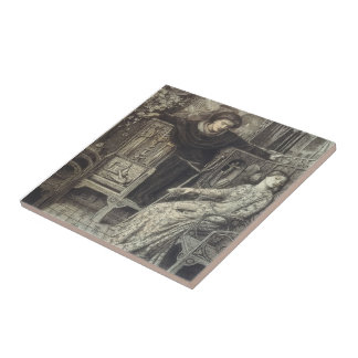 Dante Gabriel Rossetti: Hamlet and Ophelia Tile