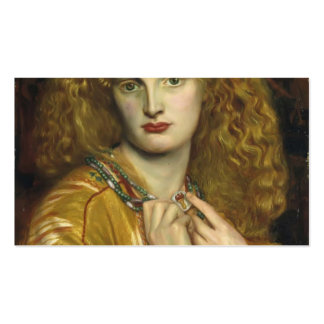 Dante Gabriel Rossetti: Helen de Troy Plantillas De Tarjetas Personales